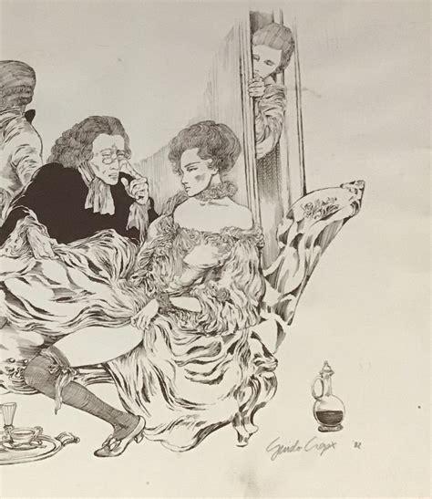 Ha profondamente influenzato il mondo del fumetto erotico europeo dalla seconda metà del xx secolo. Conference Amoroso Poster by Guido Crepax, 1982 for sale at Pamono