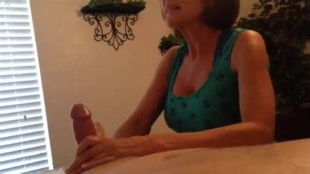 #Hot #Mature #Milf #Sensually #Stroking #Cock #During #Wax