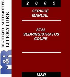 2005 St22 Sebring Coupe Chrysler   Service Manual In 2020