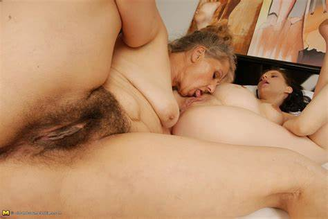 Granny Lezbi Old And Fledgling Gfs Couple Old And Thin Lesbo Give Dildoing With A Pregnant Teens