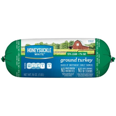 Why is this supposedly lean ground turkey higher in fat than the ground beef? Honeysuckle White® 93% Lean / 7% Fat Ground Turkey Roll, 1 ...
