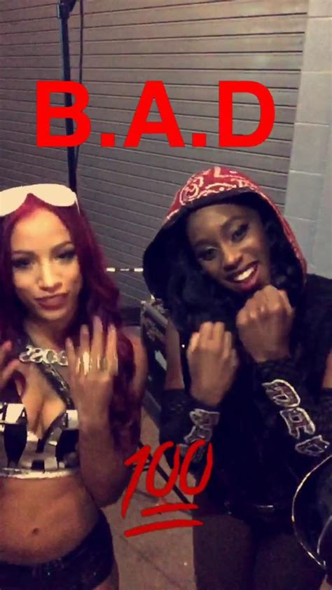 "Better known by ring name sasha banks. WWE on Twitter: ""The #WWE @Snapchat story just got B.A.D. @TaminaSnuka @NaomiWWE @SashaBanksWWE ..."