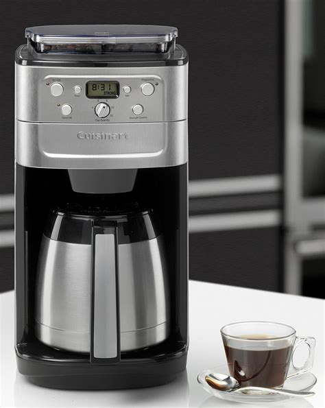 An automatic coffeemaker that can yield 10 cups a day. Cuisinart Grind & Brew Plus Coffee Maker   Premier Man