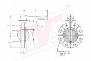 Pp Butterfly Valve Wafer Lug Sandwich Type Manual    Gear
