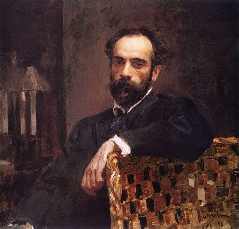 Portrait of Isaac Ilyich Levitan, 1893, Valentin Serov ...