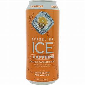 Sparkling Ice   Caffeine Orange Passion Fruit Sparkling Water 16oz Can