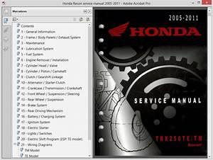 Honda Trx250 Recon  2005-2011  - Service Manual
