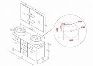 meuble de salle de bain double vasque rouge meuble de With meuble vasque salle de bain dimensions