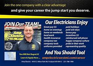 Electrician Job in West MI - Join Amp Electric!