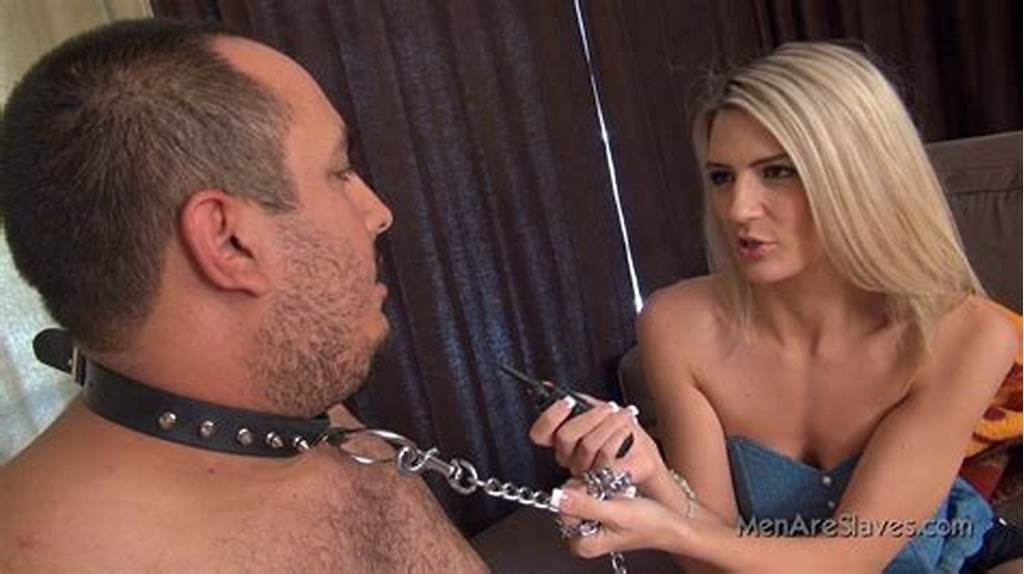 #Amanda #Gives #A #Slave #Pain #By #Shocking #His #Cock #06