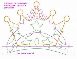 Couronne En Papier à Imprimer : gabarit couronne prince princesse pour piphanie et carnaval a t l charger et imprimer ~ Melissatoandfro.com Idées de Décoration