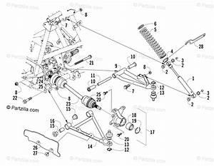 Arctic Cat Atv 2007 Oem Parts Diagram For Front Suspension