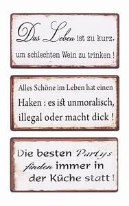 Sprüche Für Die Küche : 3er set schilder magnet b x h 10x5cm shabby chic vintage ~ Watch28wear.com Haus und Dekorationen