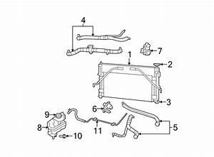 Chrysler Sebring Radiator Coolant Hose  Lower   2 7 Liter