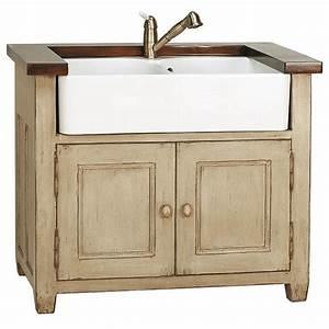 Meuble Style Campagne Chic : meuble evier 2 bacs brocante meubles de cuisine style campagne ~ Farleysfitness.com Idées de Décoration
