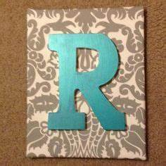 chevron pattern painted on canvas with wooden letter from hobby lobby decorating indoor spaces With canvas letters hobby lobby