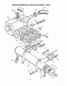 35c  D-exhaust Manifold-heat Xchgr