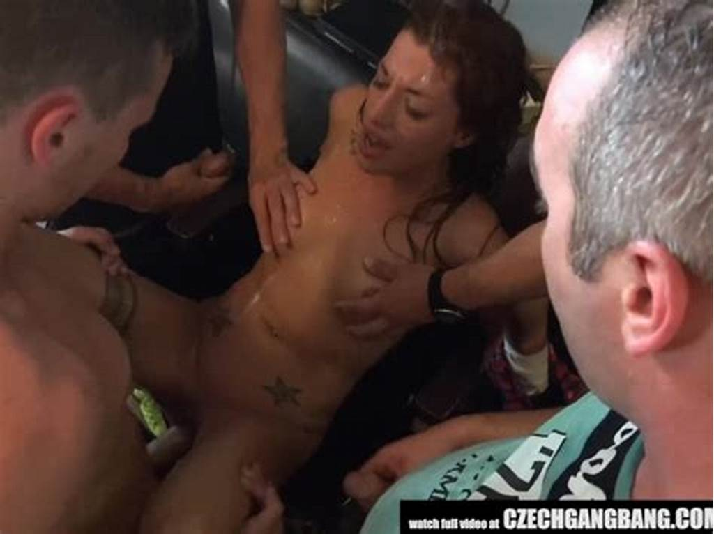 #Slutty #Twins #Destroyed #At #Gangbang