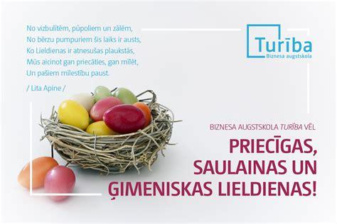 Biznesa augstskola Turība sveic Lieldienās - Jaunumi ...