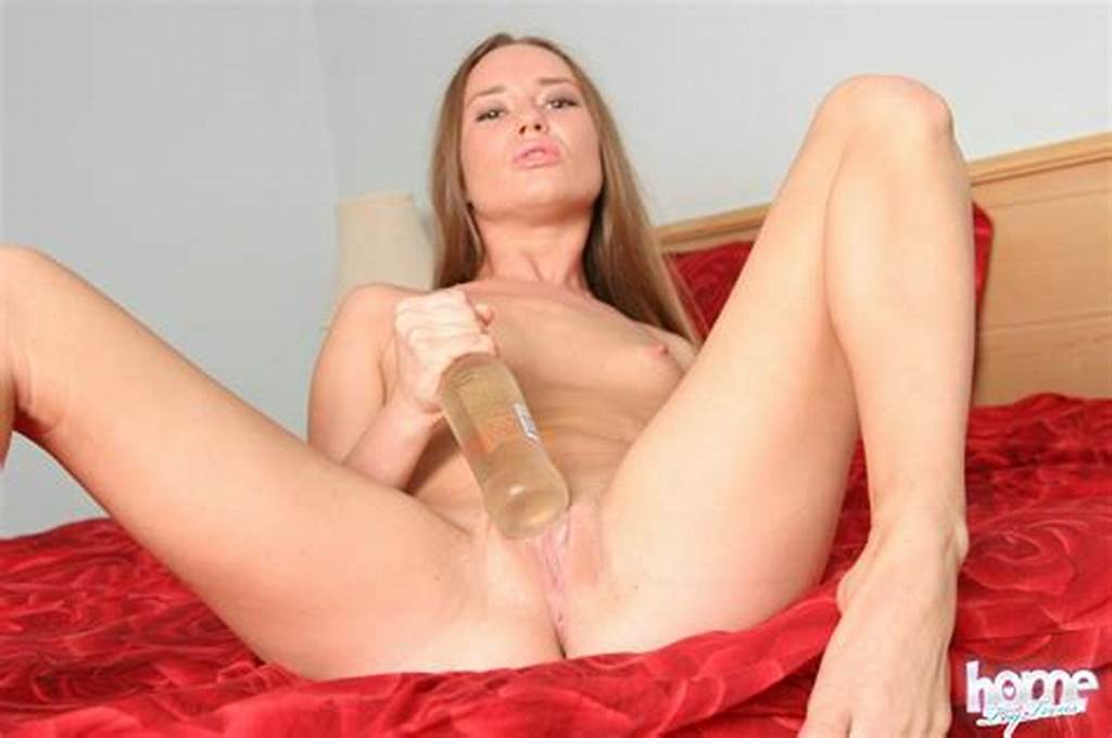 #Dirty #Blonde #Teen #Girl #Fucks #The #Neck #Of #A #Bottle