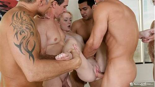 Slender Teenage Gang Porn #Skinny #Teen #Maddy #Rose #First #Gangbang