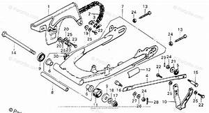 Honda Motorcycle 1976 Oem Parts Diagram For Swingarm