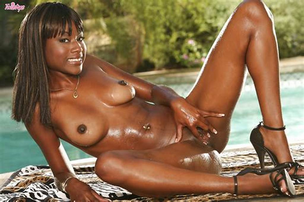 #Smiley #Ebony #Lovely #Slipping #Off #Her #Bikini #And #Exposing