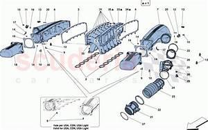 Ferrari F12 Berlinetta Intake Manifold Parts