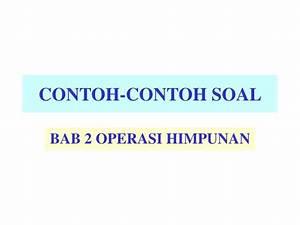 Kumpulan Contoh Soal  Contoh Soal Operasi Himpunan