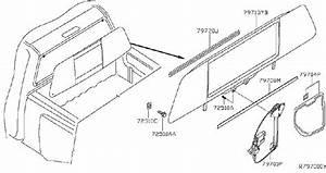 Nissan Titan Sliding Window Latch  Slide  Glass  Manual