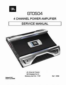 Jbl Gto 504 Service Manual  U2014 View Online Or Download