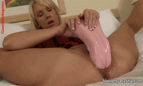 Monster Dildo Does Not Fit In Mature Tiny