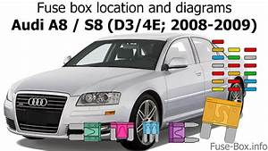 Fuse Box Location And Diagrams  Audi A8    S8  2008