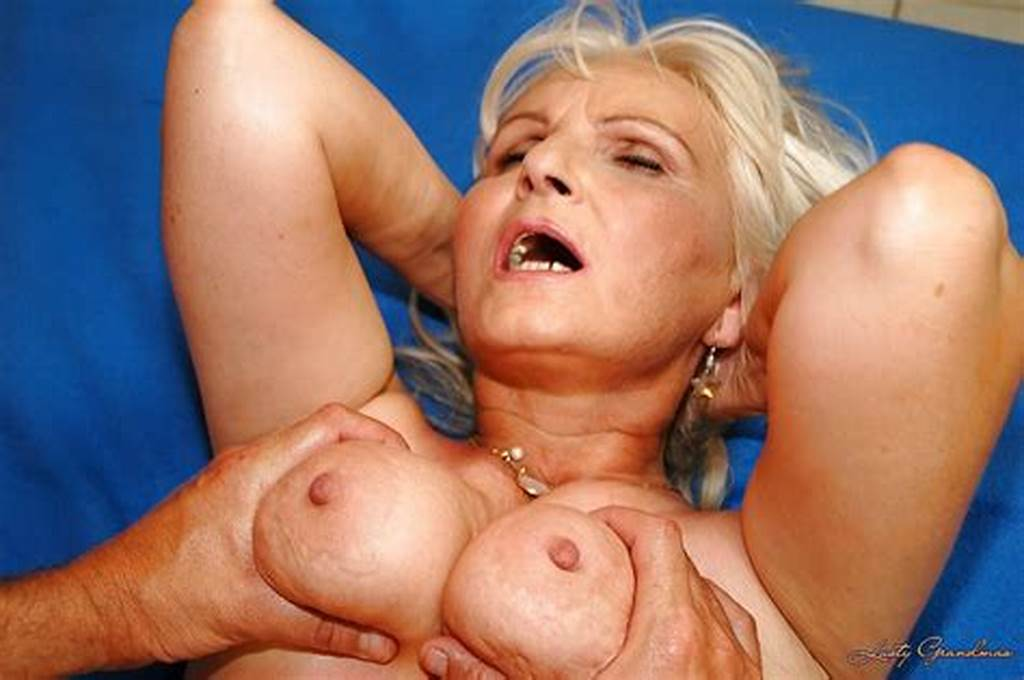 #Blonde #Granny #With #Flabby #Tits #Gets #Her #Twat #Stretched #By