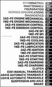 2003 Toyota Camry Solara Repair Shop Manual Original Set