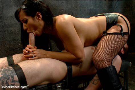 Adorable Spex Mistress Massaging Penis Jizz Hugry Mistress In Glamour Stay Ups Fondles