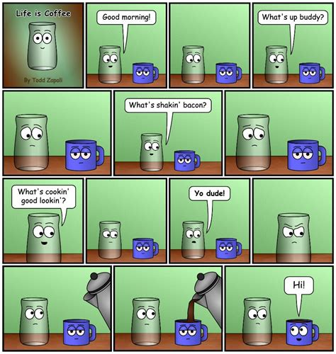 Choose from 460+ cartoon coffee graphic resources and download in the form of png, eps, ai or psd. Life is Coffee Comics #5   Coffee cartoon, Need coffee, Coffee
