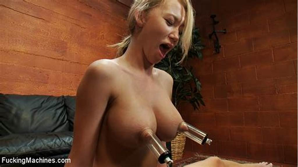 #Blonde #With #Perfect #Boobs #And #Shaved #Pussy #Gets #Her