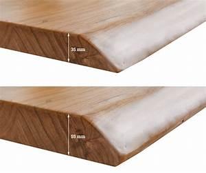 Baumtisch Live Edge : tischplatte live edge baumtisch 140x90x5 akazie gebleicht live edge einzelteile ~ Indierocktalk.com Haus und Dekorationen
