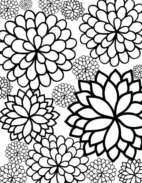 Flower Coloring Pages For Adults Printable Also see the