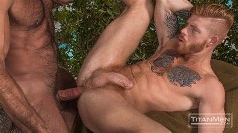 Muscled Ginger Oral And Banged
