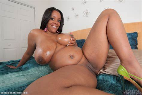 Gorgeous Bbw Black Female Is Playing Herself