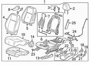 Chevrolet Trax Power Seat Wiring Harness  W  O Power Seat