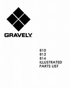 Gravely 810 812 814 Parts Catalog For Tractor