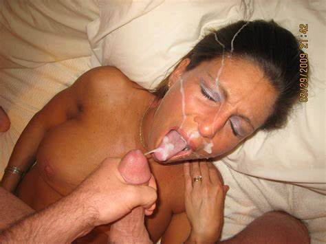Slutty Housewife Sperm In Mouth