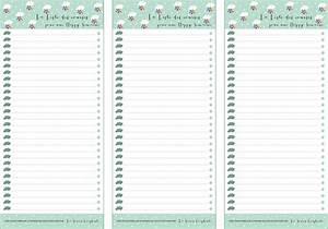 Liste De Courses À Imprimer Gratuitement : planning vierge pour menus de la semaine imprimer ~ Nature-et-papiers.com Idées de Décoration