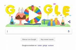 Ruleta de la fortuna del cumpleaos 19 de Google - LA nacion