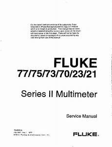 Service Manual - Fluke 77