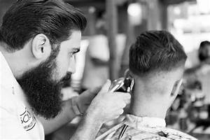 Haircut With Manual Clippers In Progress