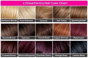 L 39 Oreal Feria 39 S Hair Color Chart Feria Hair Color